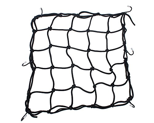 Heavy-Duty 15' Cargo Net for Motorcycles, ATVs - Stretches to 30'