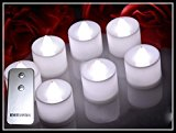 HOSSEN® 24pcs Glow Candles,Wedding Decoration,LED Candles,With a Remote control,(white light)
