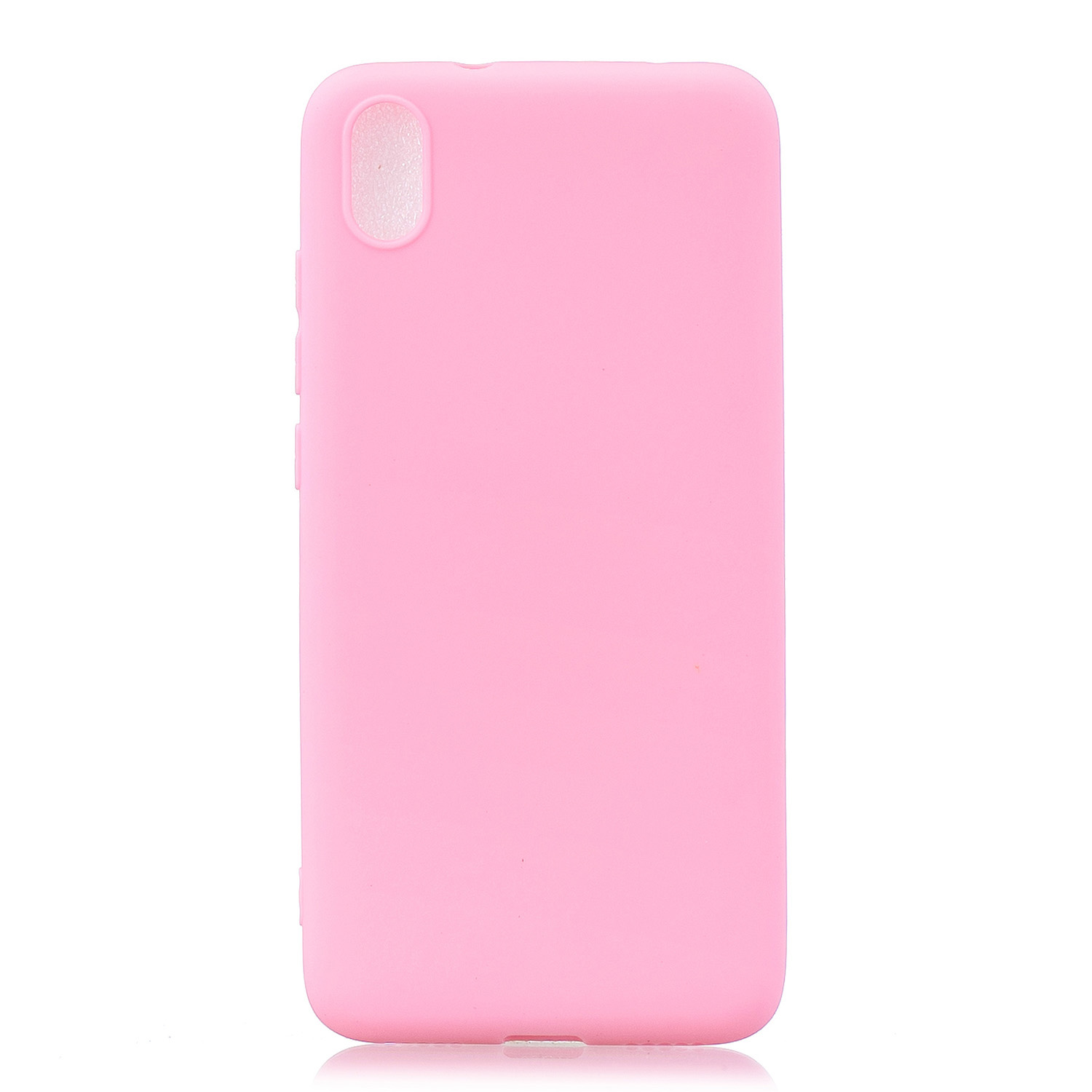 For Redmi 7A Lovely Candy Color Matte TPU Anti-scratch Non-slip Protective Cover Back Case dark pink