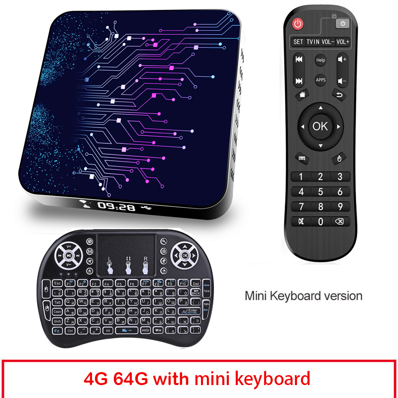 4+64gb Tv Box Tp02 Rk3318 Android 10 Tv Box With Remote Control 4+64G_US plug+I8 Keyboard