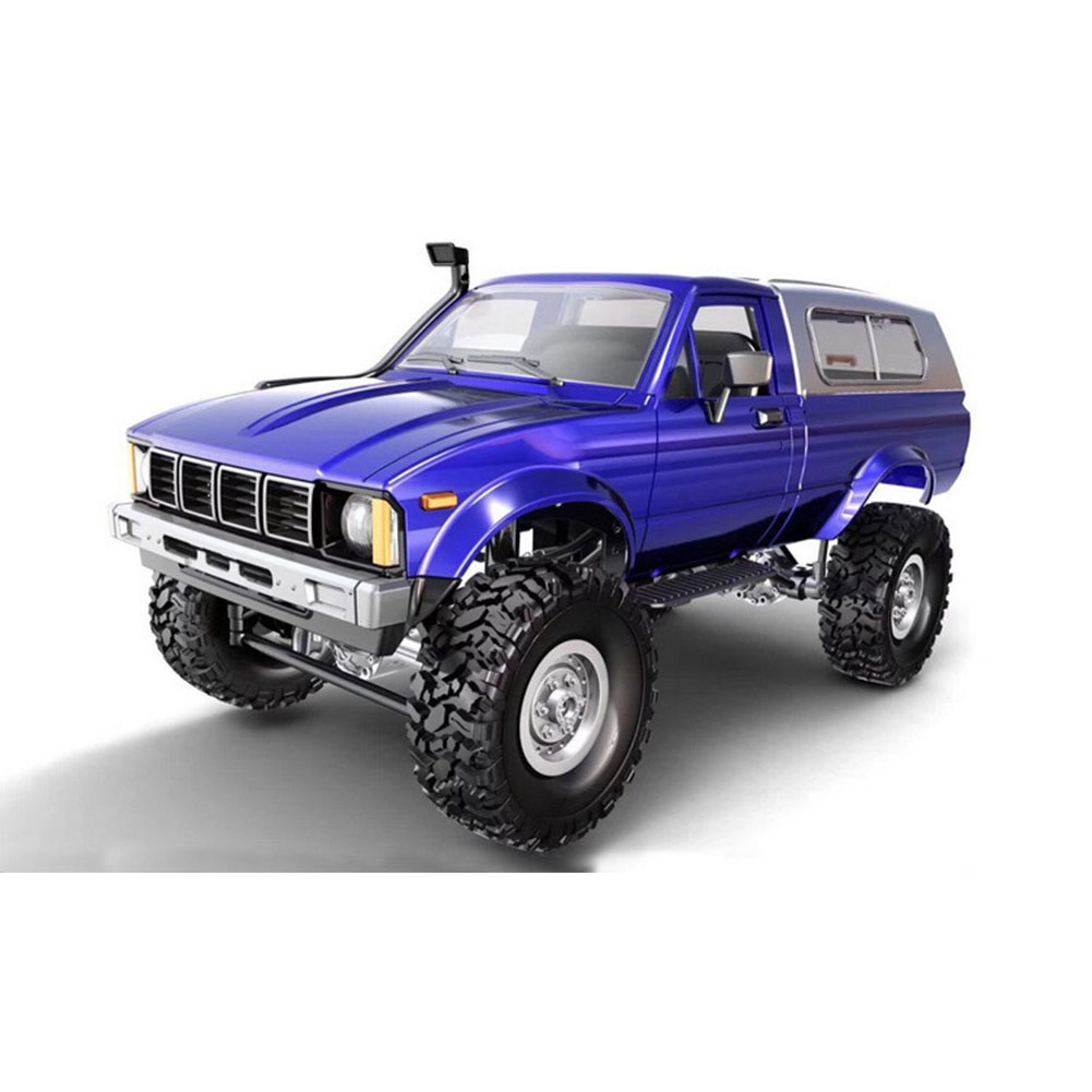 Remote Control Military Truck 4 Wheel Drive Off-Road RC Car Model Remote Control Climbing Car Gift Toy Blue car box package