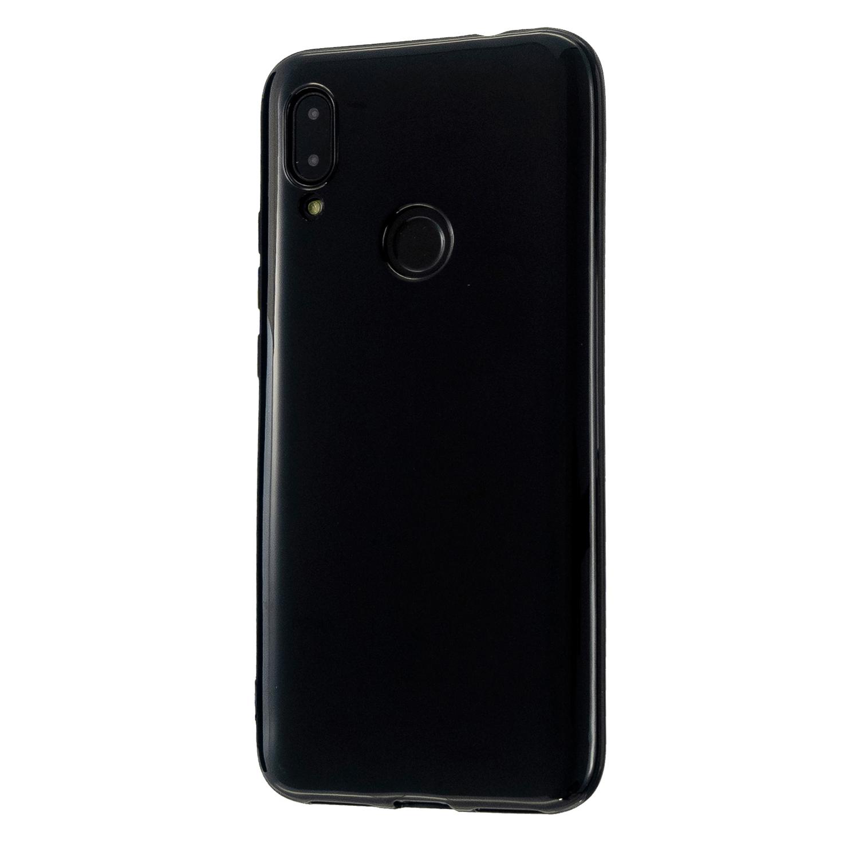 For Redmi 7/7A/Note 7/Note 7 Pro Cellphone Cover Overall Protection Soft TPU Anti-Slip Anti-Scratch Phone Case Bright black