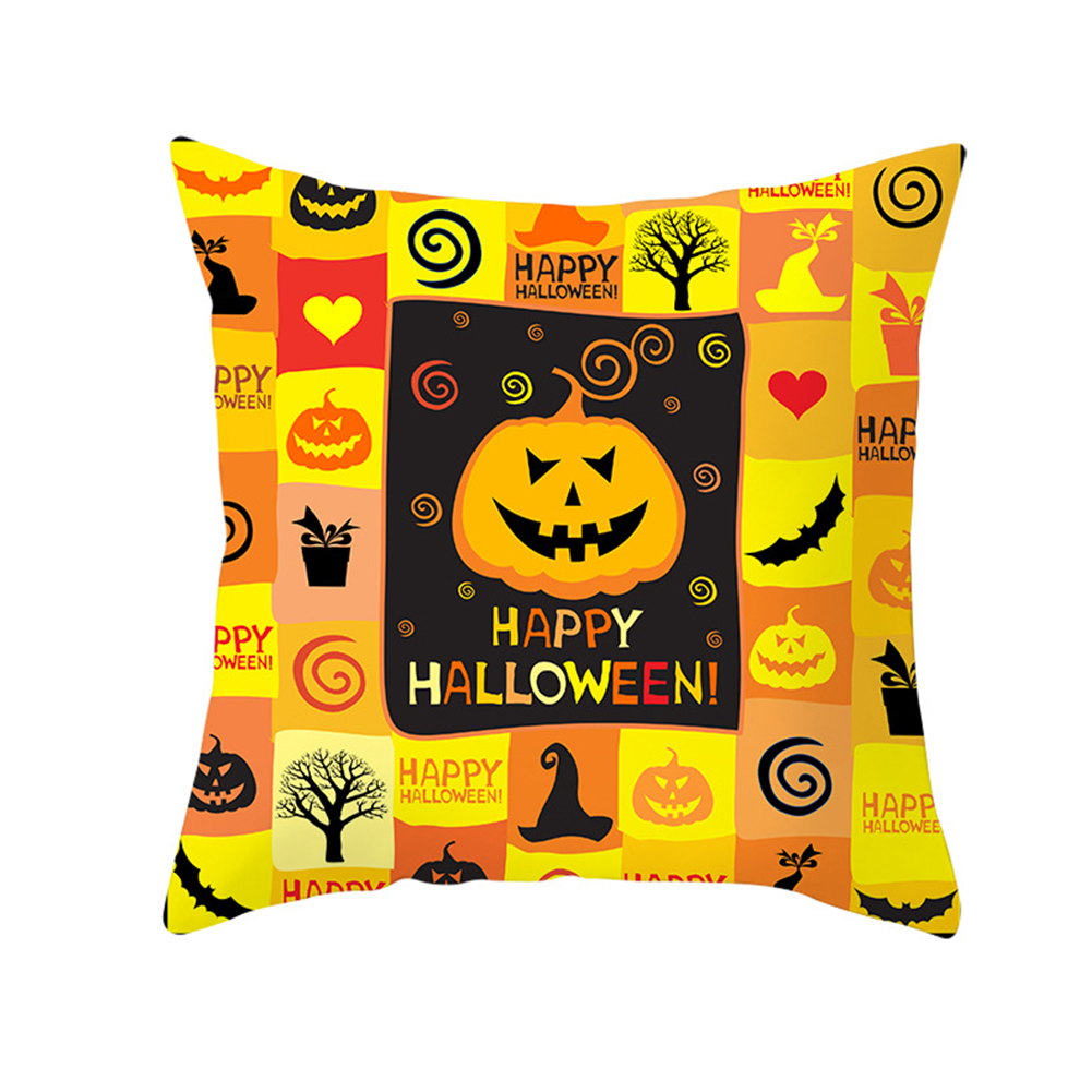 Halloween Series Orange Geometric Pillow Cover Home Party Decoration TPR184-4_45*45cm (without pillow)