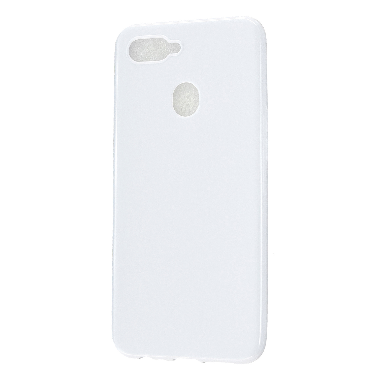 For OPPO A7/F9/F9 Pro Cellphone Cover Non-Slip Ultra Thin Silm Fit Easy Install Soft TPU Smartphone Shell Milk white
