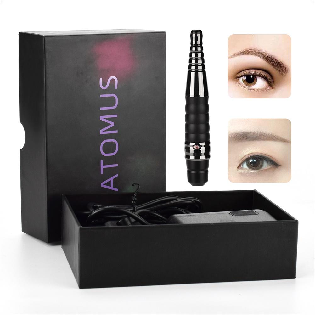 Electric Wireless Tattoo  Machine Pen Adjustable Cordless Makeup Eyebrow Machine black