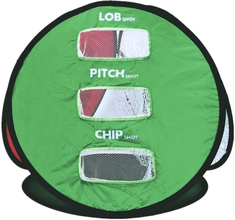 Golf Practice Net Driving Chipping Net Quad Indoor Outdoor Garden Hitting Golf Net Portable Set  green
