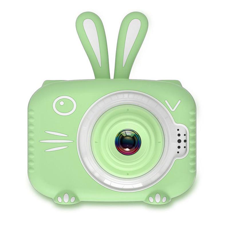 Hd Cartoon Rabbit Children Camera Digital Photo Childlike Mini Camera Green single camera