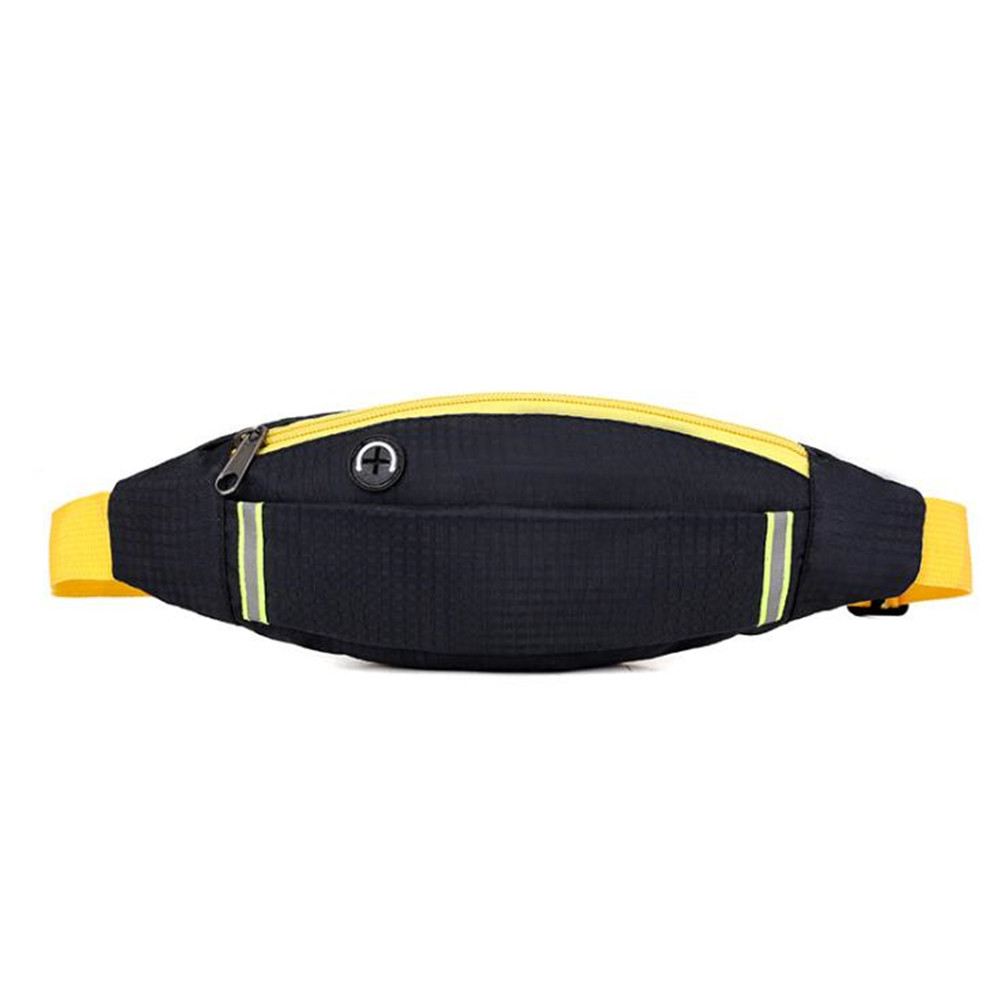 Outdoor Running Waist Bag Sports 4-6inch Smart Phone Bag Running Belt Bag for Hiking Camping Cycling black_4-6.2 inch mobile phone universal