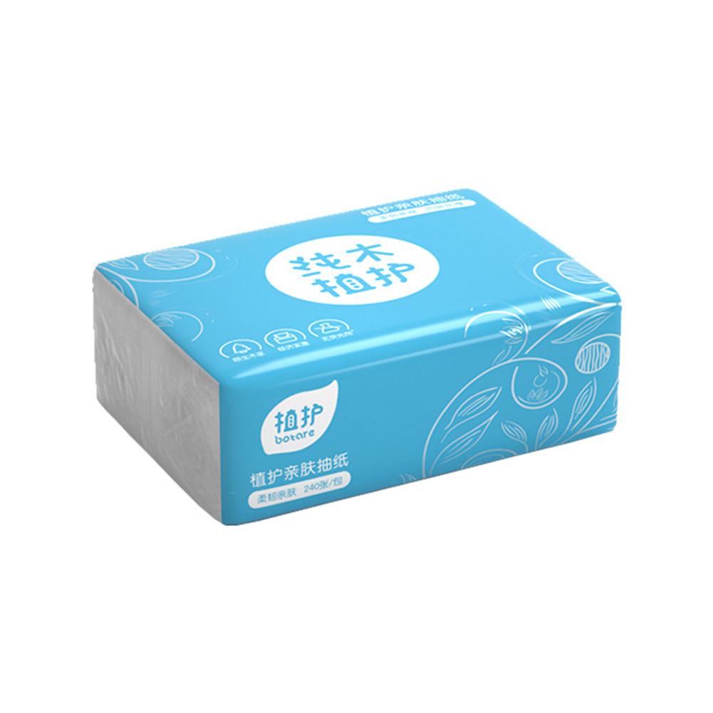 240 Sheets/Bag Natural Wood Tissue 4 Layer No Fragrance Paper Napkin Toilet Paper 240sheets/bag
