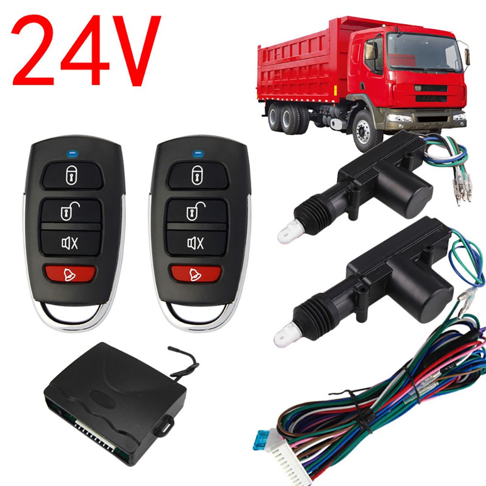 2 Door Remote Control Car Central Lock Locking Security System Keyless Entry Kit black
