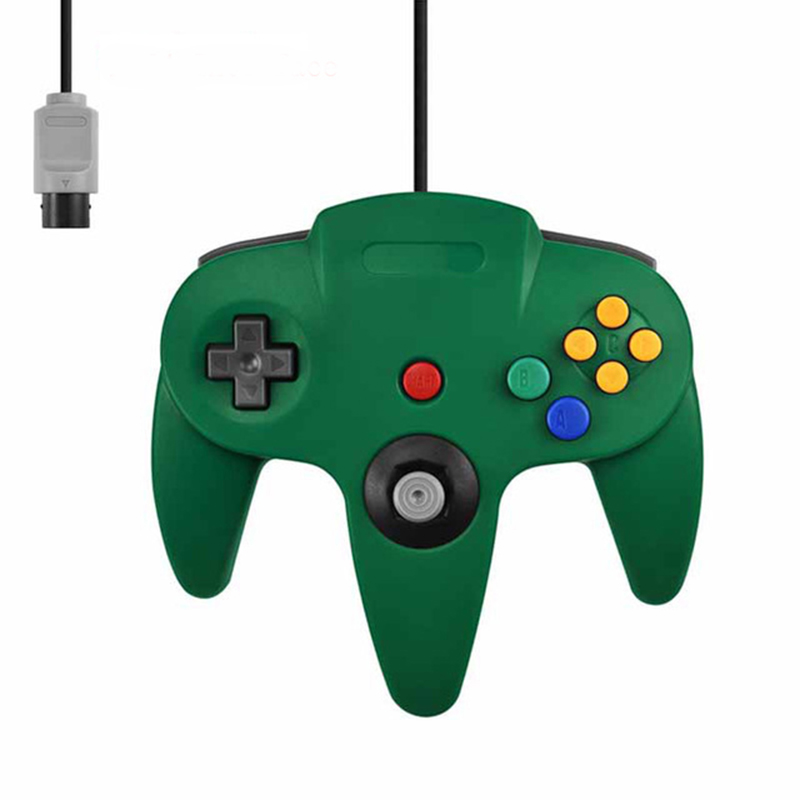 Wired Controller for N64 Classic Gamepad Joypad Green