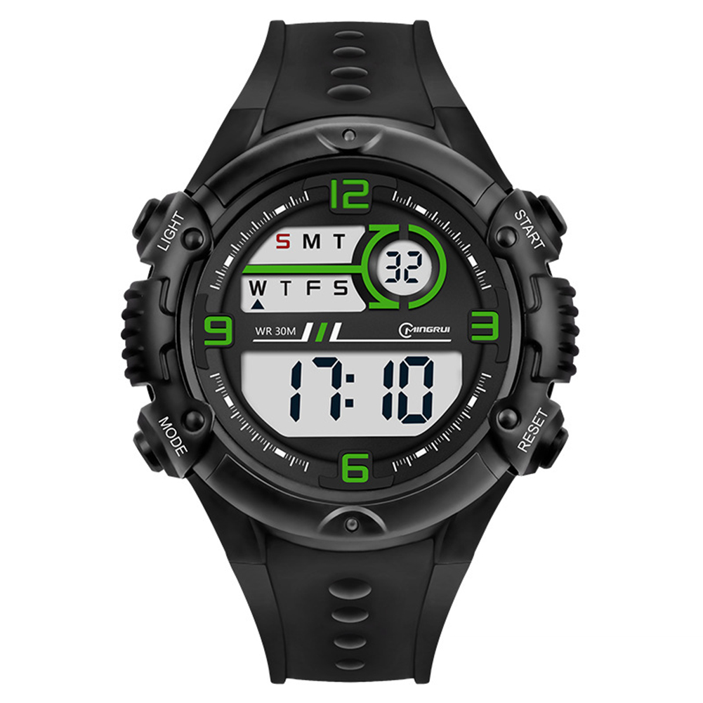 Students Electronic Watch Sports Fashion Simple Wristwatches Multi-functional Watch green