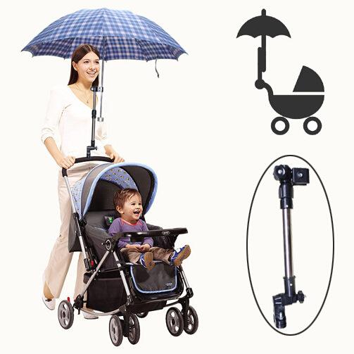 Golf Umbrella Holder Baby Trolley Umbrella Stand For Wheelchair Bike Buggy Cart Baby Pram