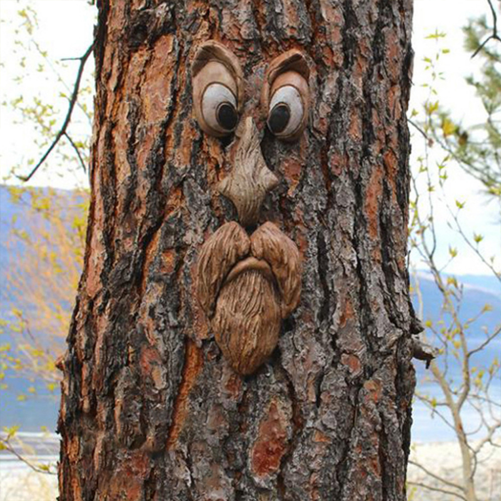 Resin Five Sense Organs Shape Prop For Easter Party Tree Decoration Prop
