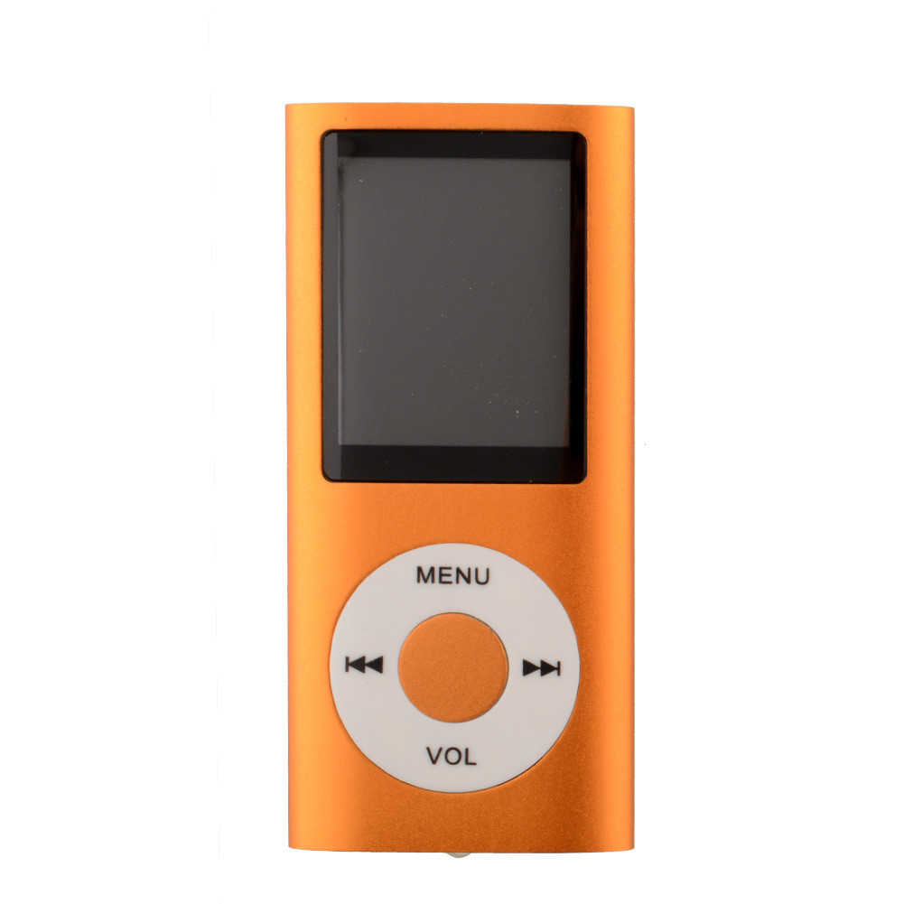 1.8 Inch Screen MP4 Video Radio Music Movie Player SD/TF Card MP4 Player  Orange_1.8 inches