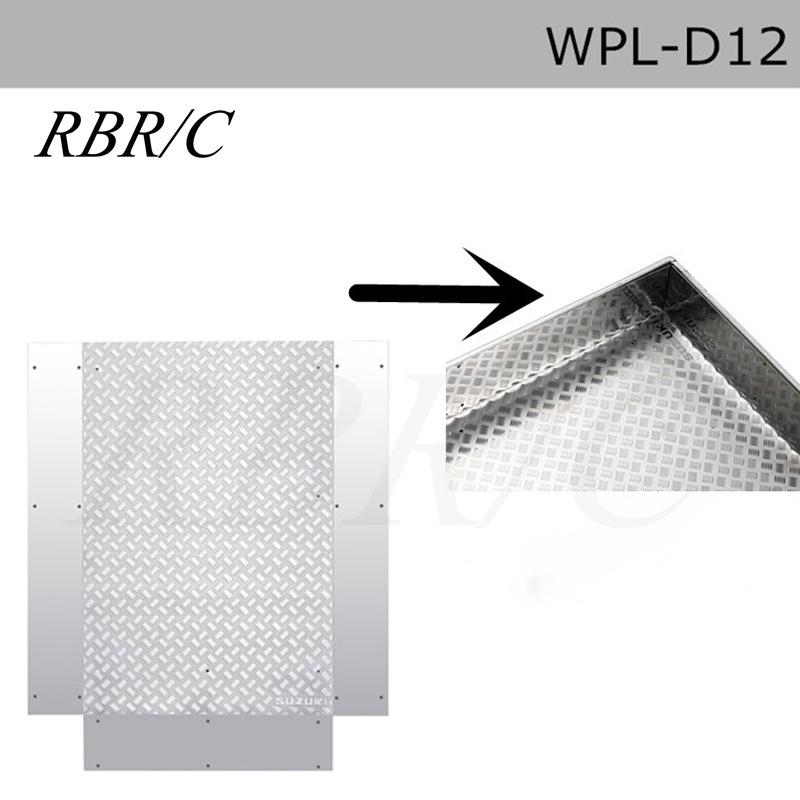 Wpl D12 Microcard Remote Control Minivan Decoration Accessories Diy Upgrade Model d12 Metal non-slip rear bucket