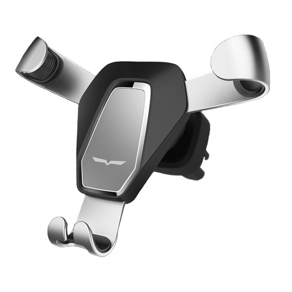 Universal Gravity Air Vent Phone Car Mount Holder Free Angle Rotation for Mobile Phone,iPhone Xs/X/8/7/6s/Plus/5S/4S, Samsung S8/S7/S6/Note 8  Bird stand silver