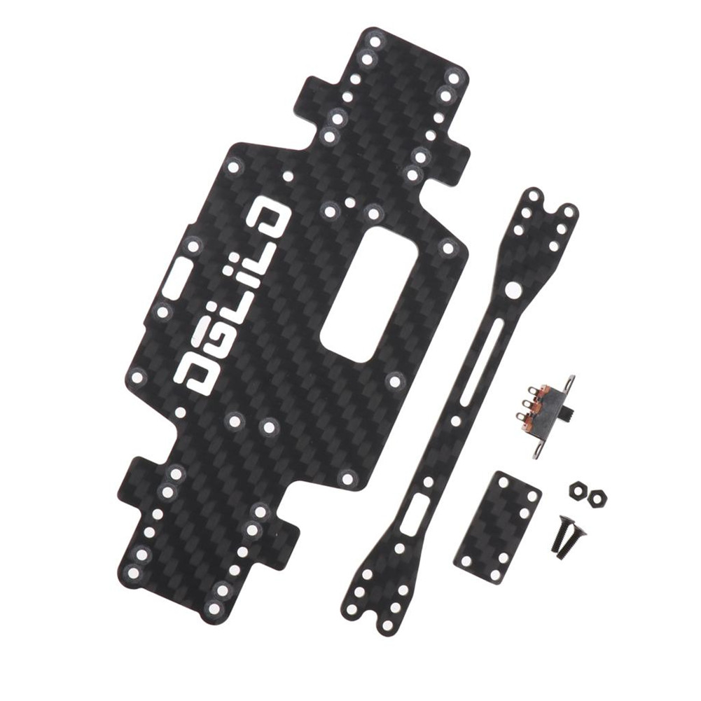 Wltoys K969 K979 K989 K999 P929 P939 1:28 RC Car Spare Parts Upgraded Carbon Fiber Chassis Car Bottom Low Body Shell 1;28