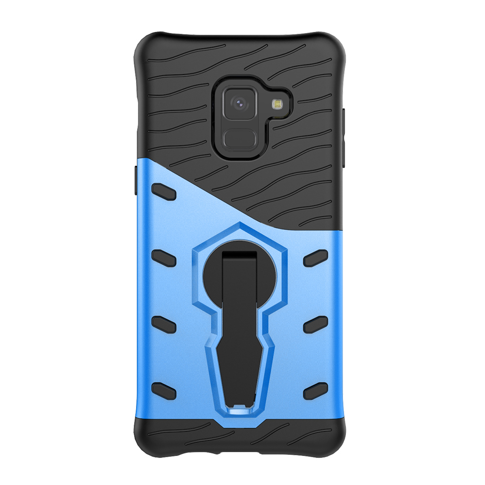 Exquisite Phone Case Protective Cover with 360 Degree Rotating Phone Bracket for Samsung A8/A8 Plus