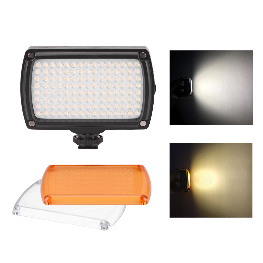 120 LEDs Video Light Dimmable Dual Color For GoPro/DJI Osmo Mobile/Zhiyun/Feiyu Vimble Vlog Pocket Fill Light Photography black