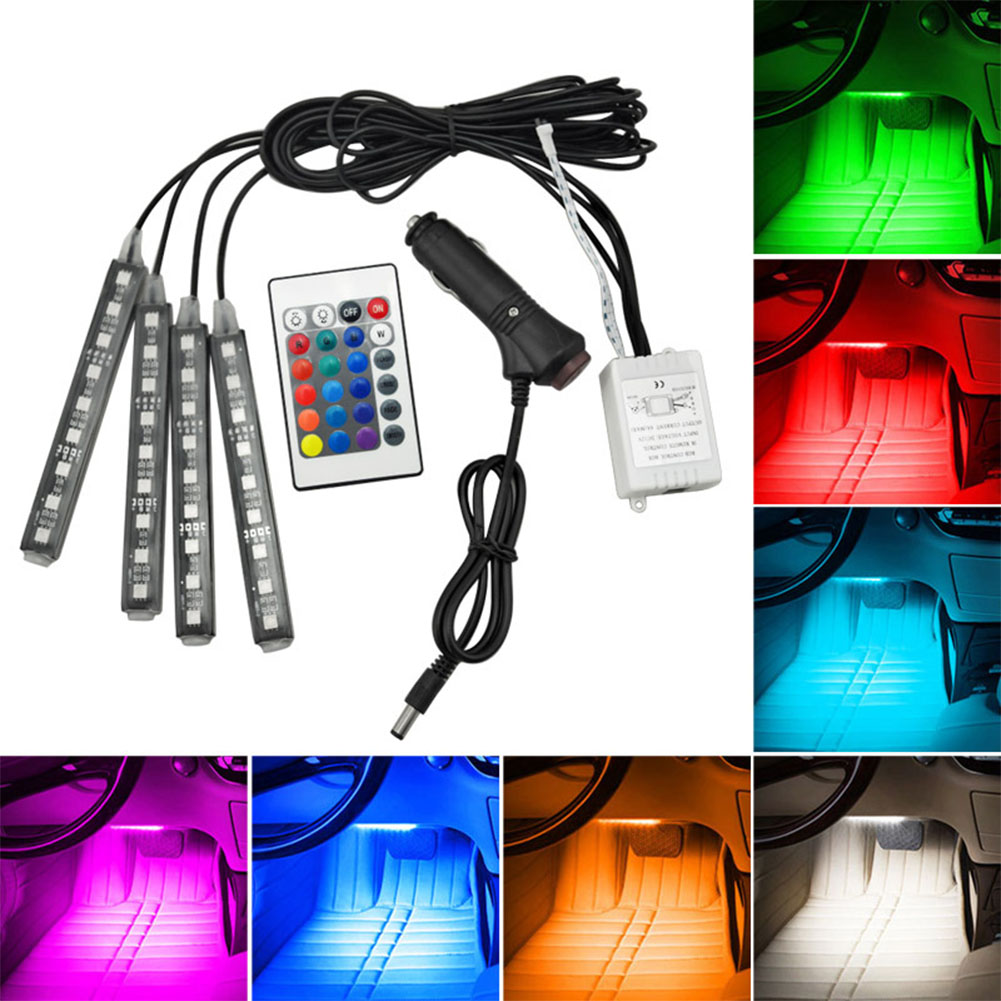 RGB LED Decoration Footlight Remote Control Colorful Music Rhythm Lamp Bar Colorful