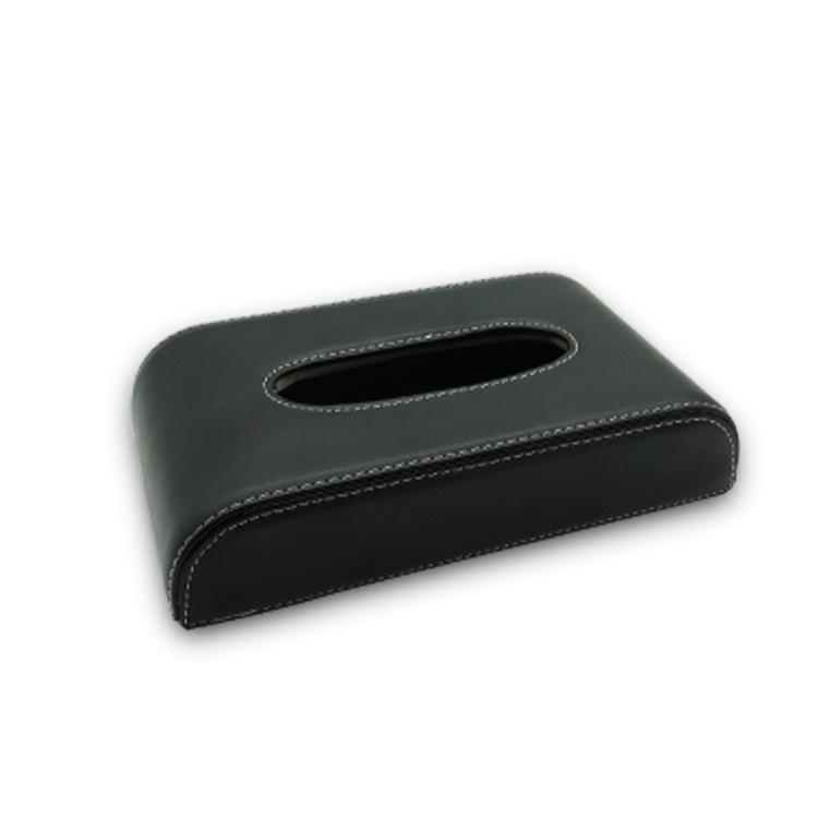 24*13*5cm Car Leather Tissue Box Car Decoration Napkin Holder Paper Towel Box black