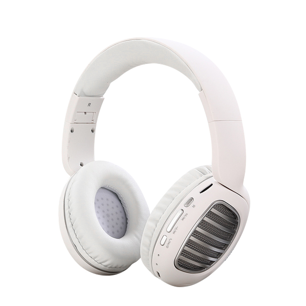 Wireless Bluetooth Foldable Headset FM Radio Stereo Music Portable Headset white