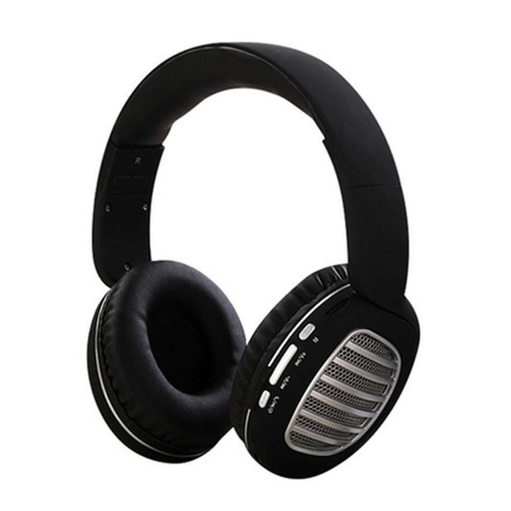 Wireless Bluetooth Foldable Headset FM Radio Stereo Music Portable Headset Navy blue