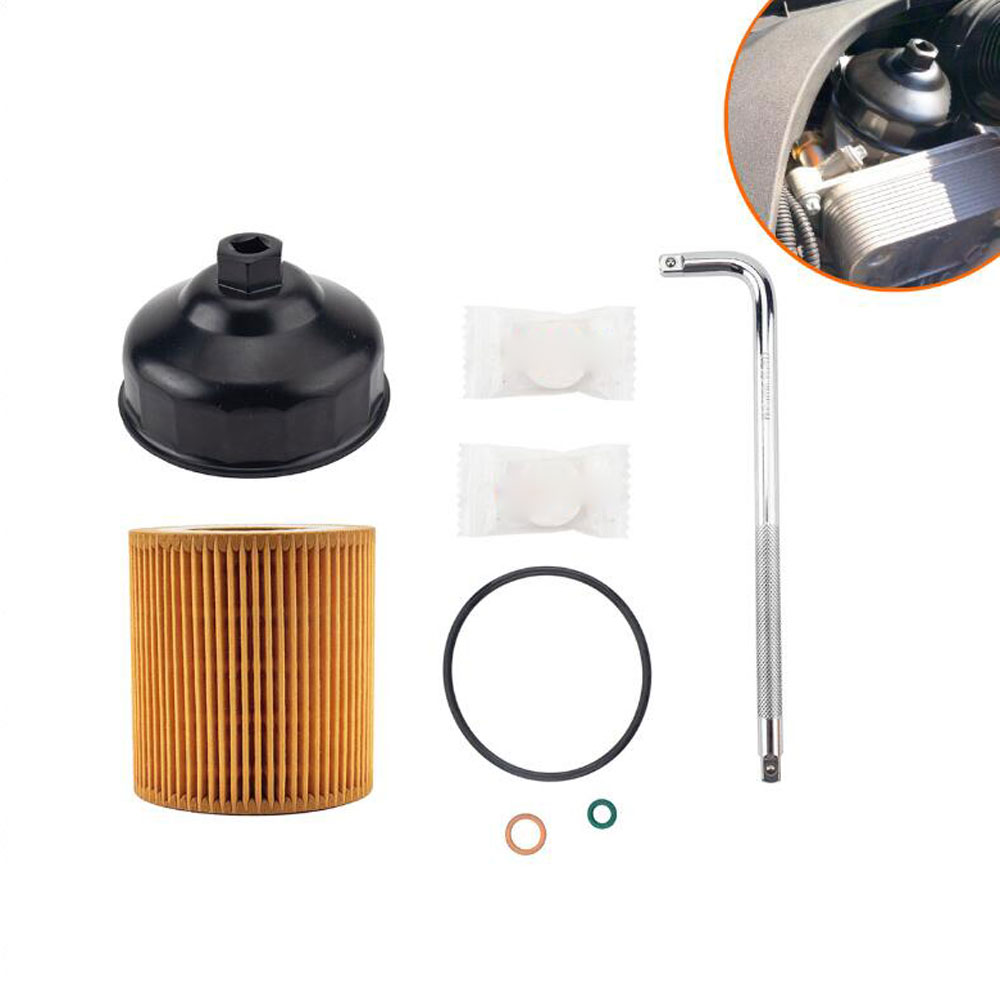 Engine Oil Filter Kit  with 86MM Oil Filter Wrench OE:11427566327 For BMW E60 E82 E88 E92 F06 F10 F22 F30 F32 F34
