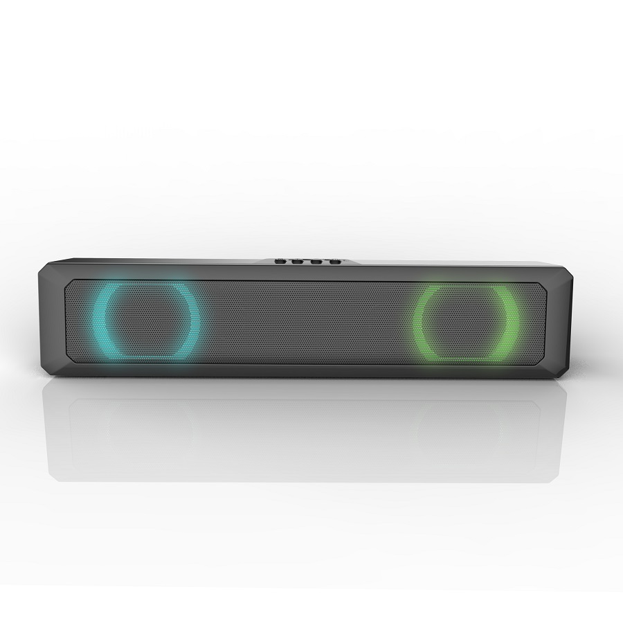A4 Bluetooth  Speaker Portable Loudspeaker Mini  Colorful Dazzling  Rectangular Rgb Bass  Box black