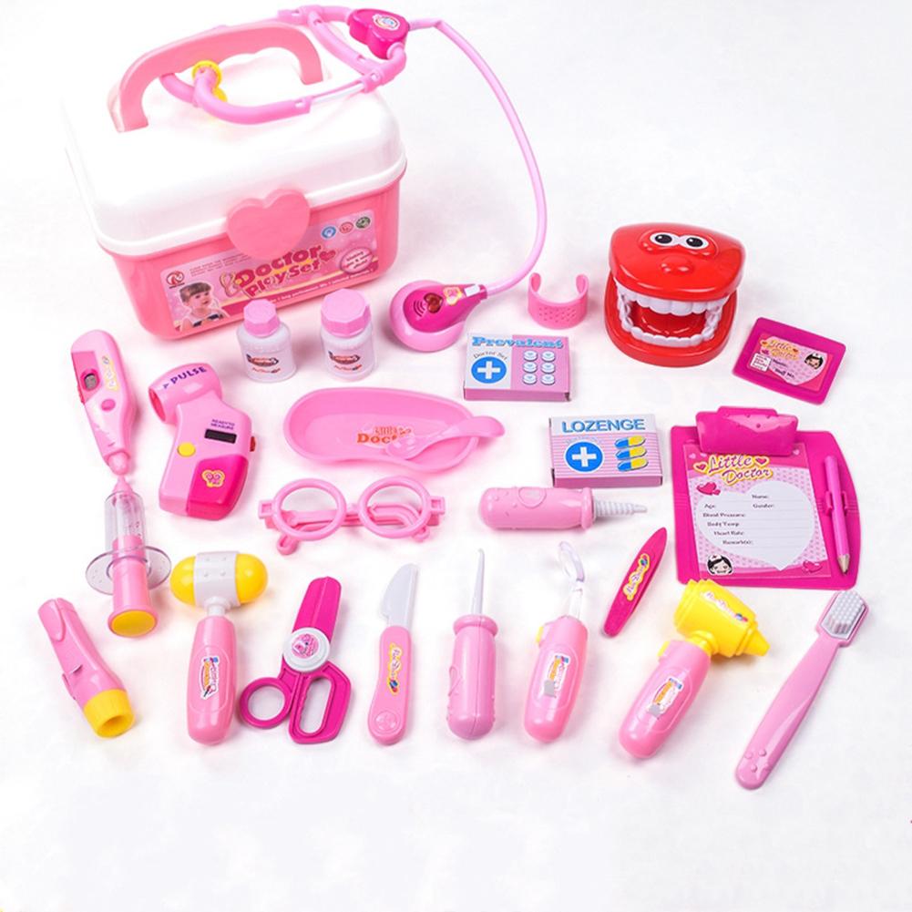 25Pcs Kids Simulation Medicine Box Doctor Toys Sets Funny Pretend Play Nurse Medical Kits for Children