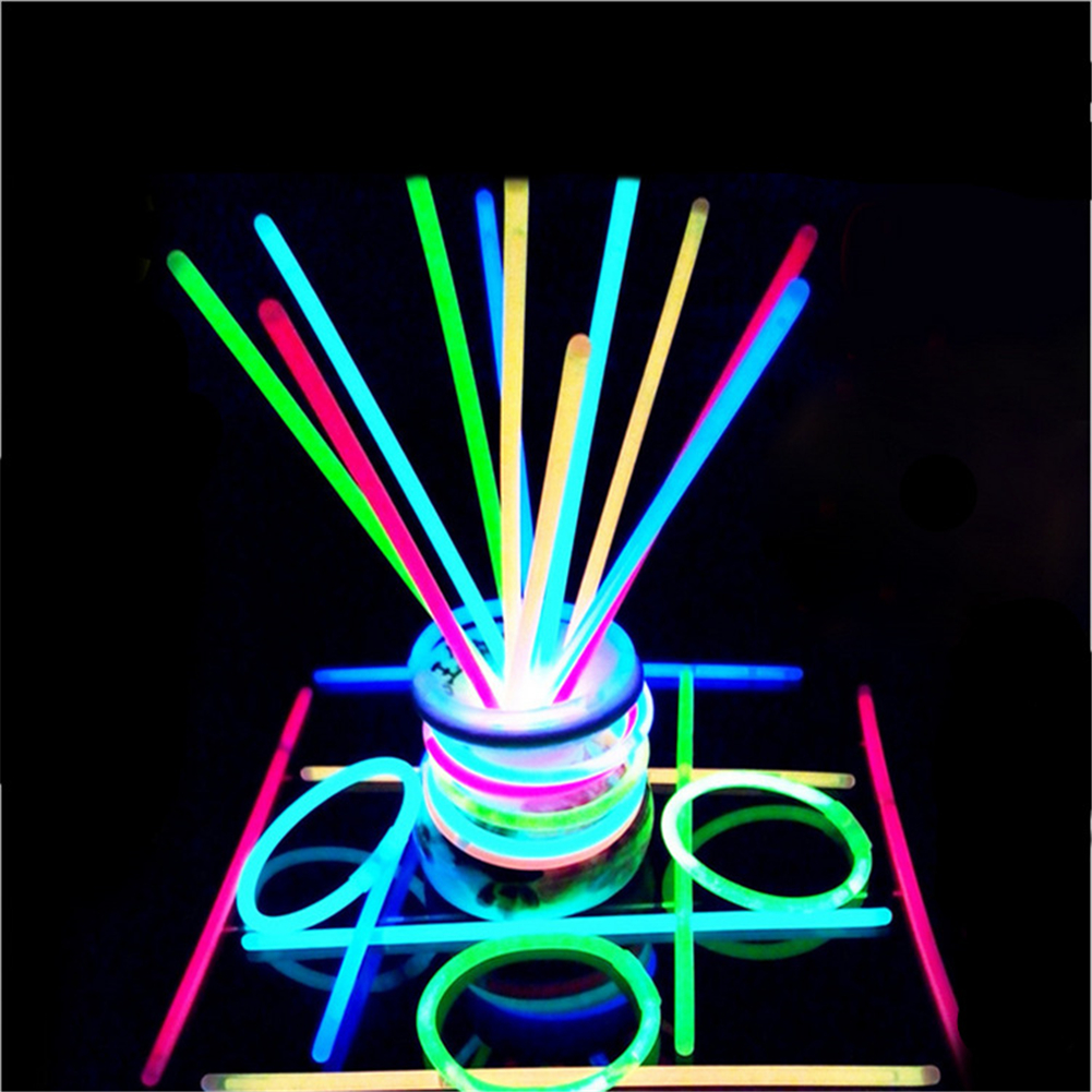 100 Pcs/box Glow  Sticks Party Supplies Glow Party Decorations Colorful Bright Sticks 100 pcs/box