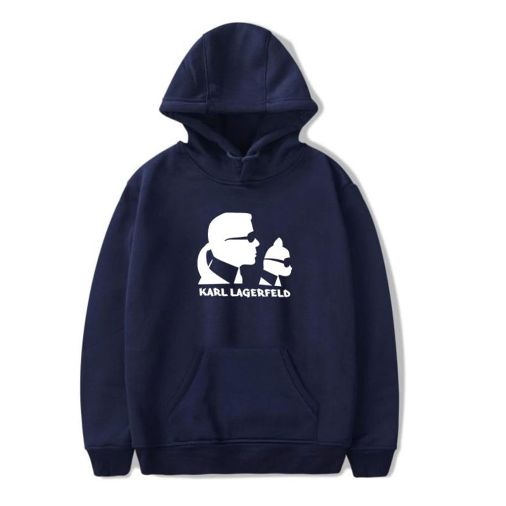 Men Fashion Printing Long Sleeve Hooded Sweatshirt D Navy_XL