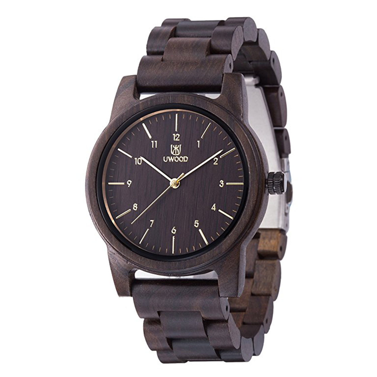 Mens Classic Casual Wood Quartz Wrist Watch
