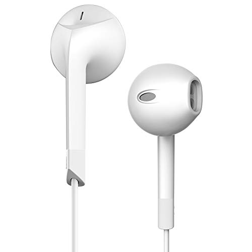 Stereo Sound Headsets 3.5mm In-Ear Earphone Wired Earbuds for iPhone Samsung  white