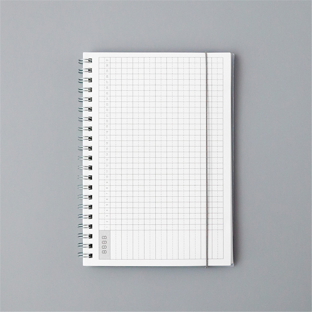 Daily Weekly Monthly Planner Notebook Creative Spiral Notebook Agenda Planner Stationery 32K
