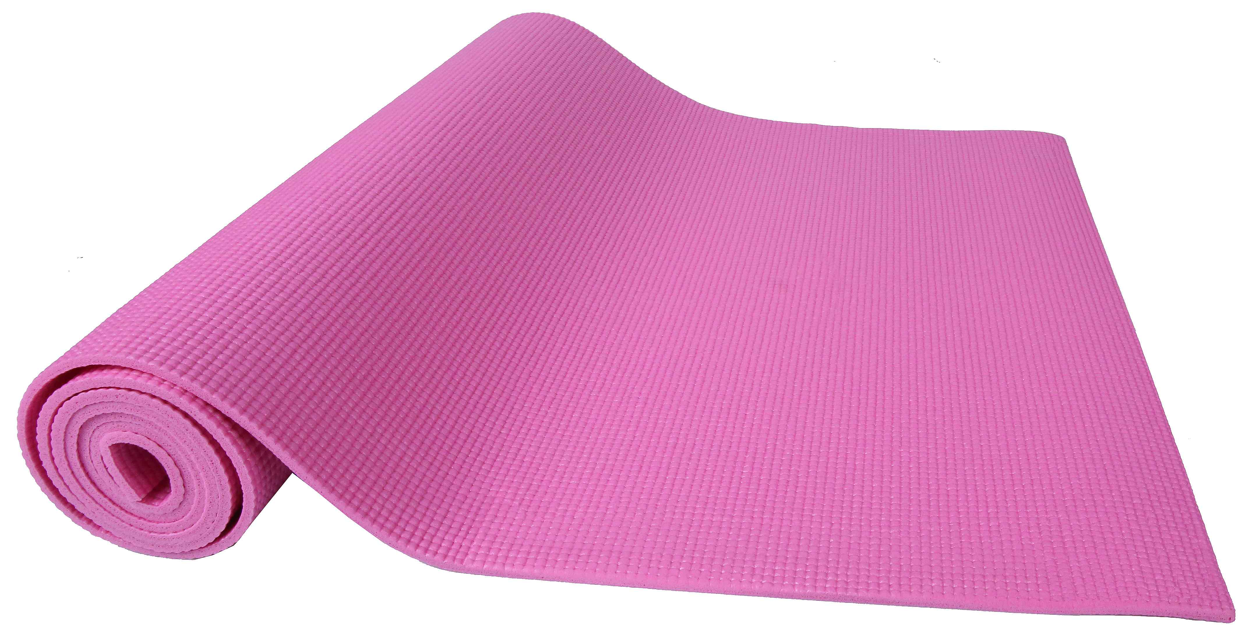 [US Direct] Original BalanceFrom GoYoga All Purpose High Density Non-Slip Exercise Yoga Mat with Carrying Strap, Blue Pink