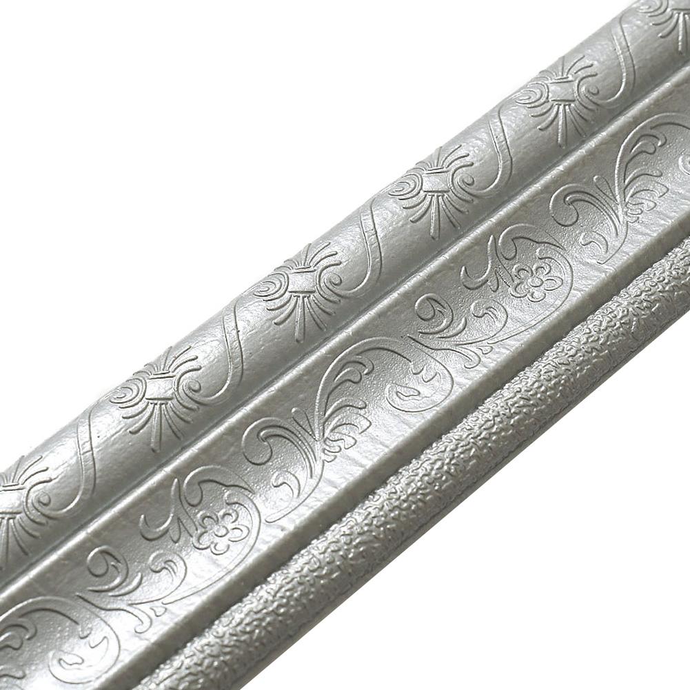 Self Adhesive Waterproof Anticollision 3D Foam Border Sticker  Silver gray 6 #