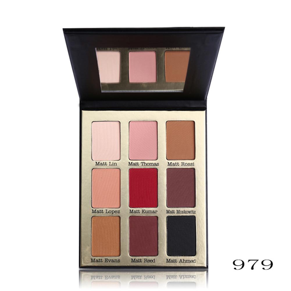 Women Girls' 9 Colors Smoky Nude Makeup Cosmetics Matt Eyeshadow Palette Beauty Tools