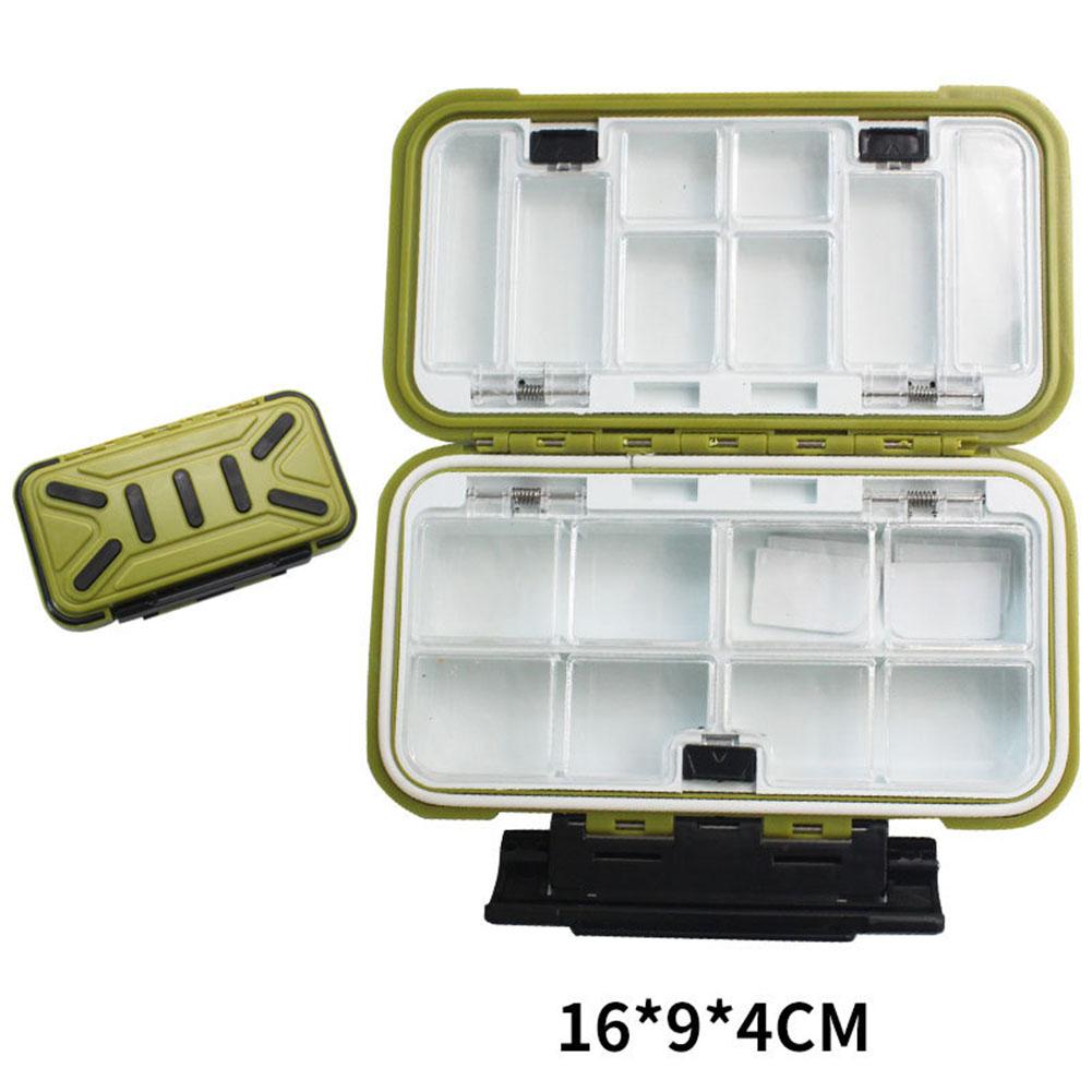 Fishing Storage Box Waterproof Fishing Lure Gear Accessories Medium army green