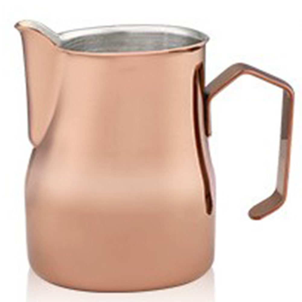 550ml Stainless Steel Frothing Pitcher Pull Flower Cup Coffee Milk Froth Rose gold