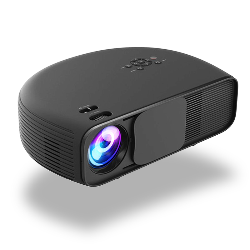 CL760UP Smart Projector 1080P Business Office HD Home Theater 3200 Lumens HDMI USB VGA AV Earphone Port 50000hrs Lamp Life Bluetooth 4.0 Android 6.0 OS black_EU Plug
