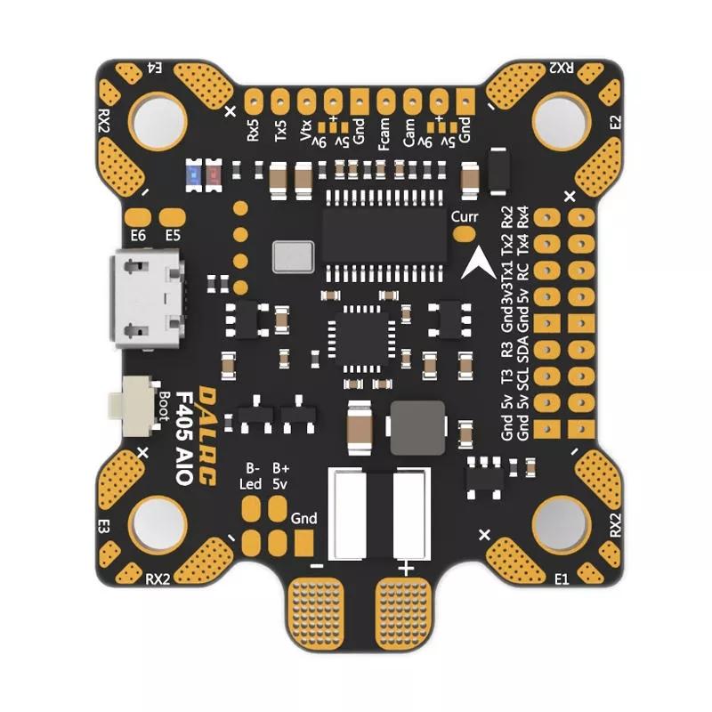 DALRC F405 AIO Betaflight F4 Flight Controller MCU STM32F405 MPU6000 OSD 9V/1.5A 5V/2A BEC 200A PDB F405 AIO