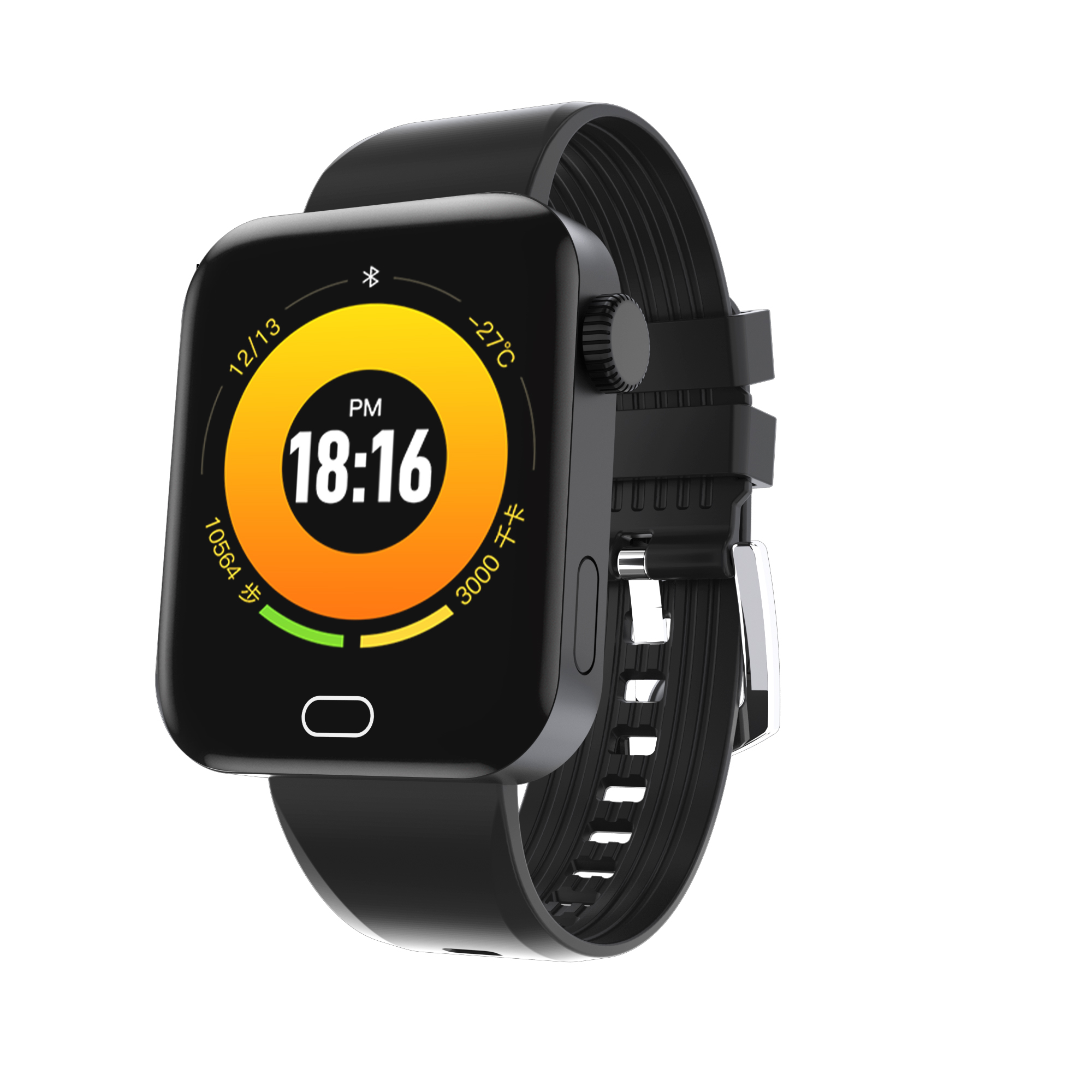 SX25 Fitness Tracker Watch Men Women Waterproof Smart Bracelet Blood Pressure Heart Rate Monitor  black