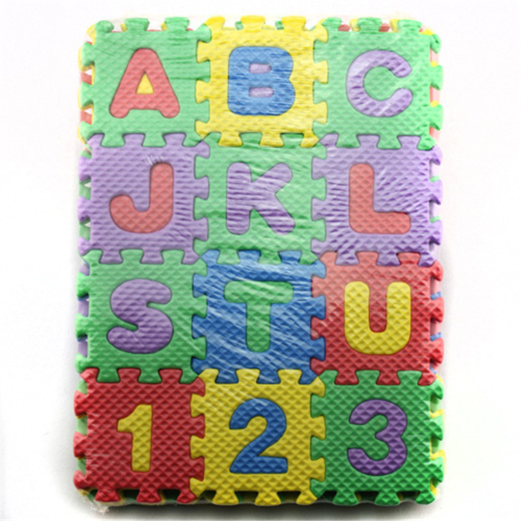 36Pcs Child Cartoon Letter Numbers Foam