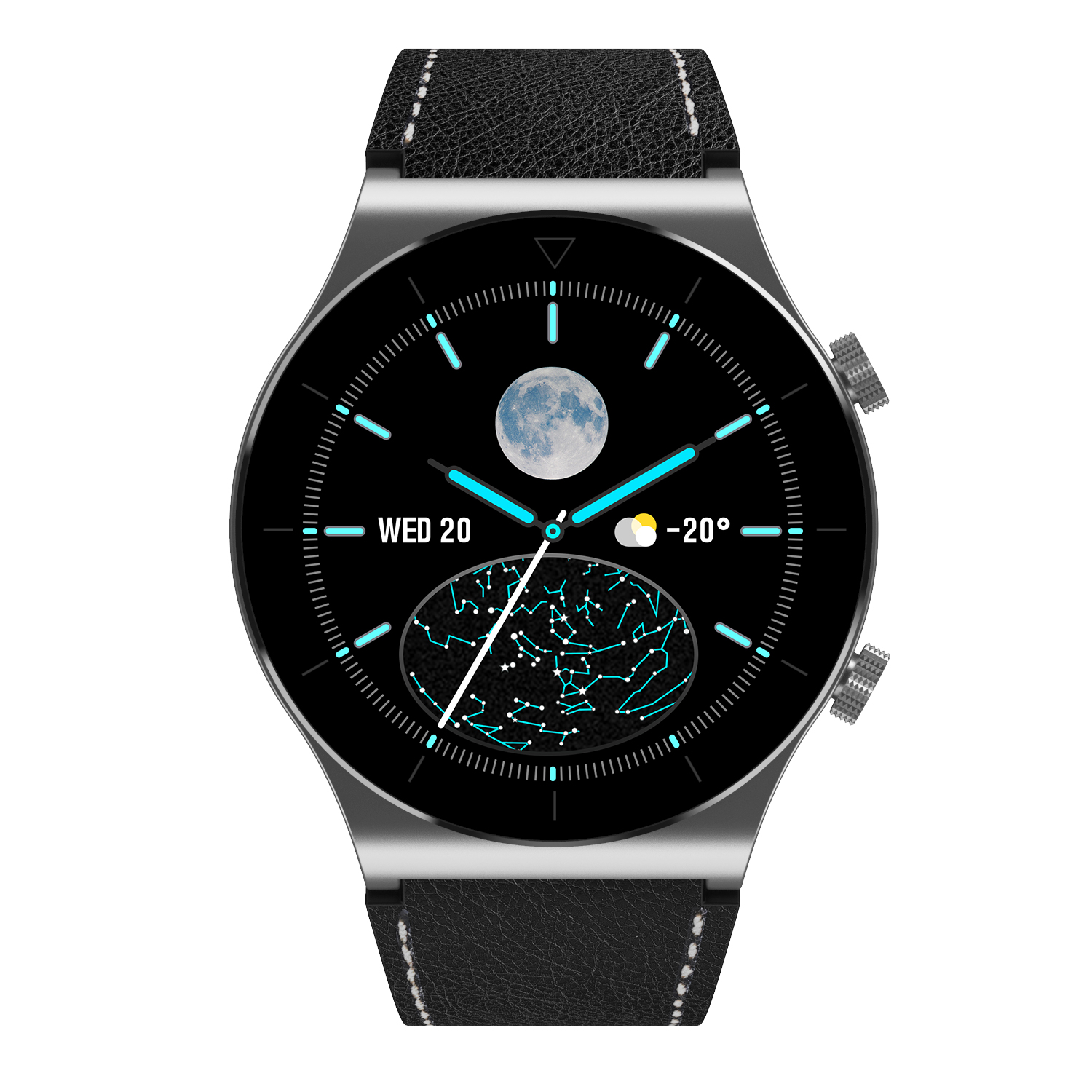 M99 Smart Watch Bluetooth Calls Fitness Bracelet Multi-sport Modes Heart Rate Sleep Monitoring Smartwatch Silver leather