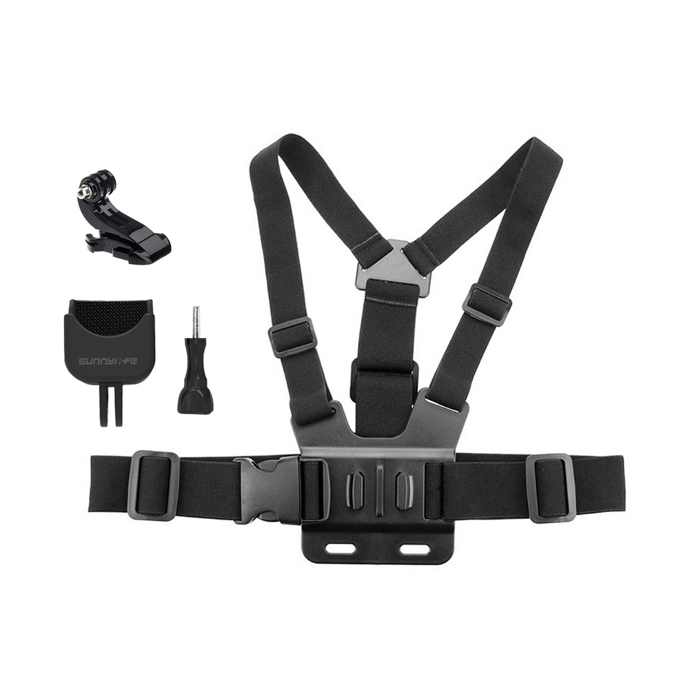 Chest Band Strap and Multi-function Expansion Adapter Mount for DJI Osmo Pocket Gopro black