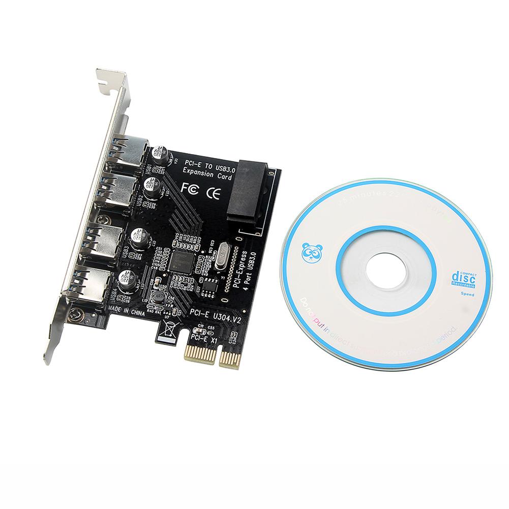 PCI-E to USB3.0 Expansion Card Four-port Desktop USB3.0 Expansion Card 4-port NEC Internet Cafe USB3.0 Card 4-port 3.0