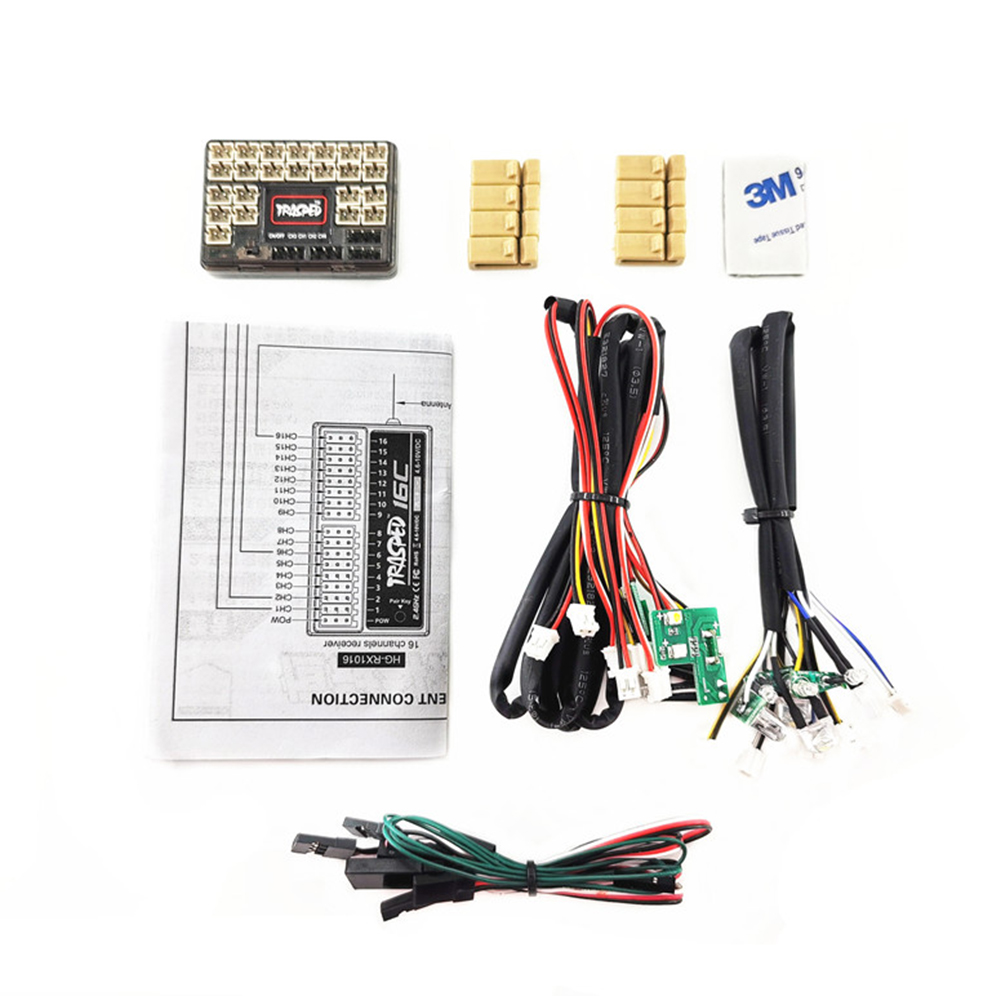 HG-P408 RC 4*4 Hummer Military Vehicle Car spare parts HG-RX1017  IC Mainboard with LED Light Set Light kit