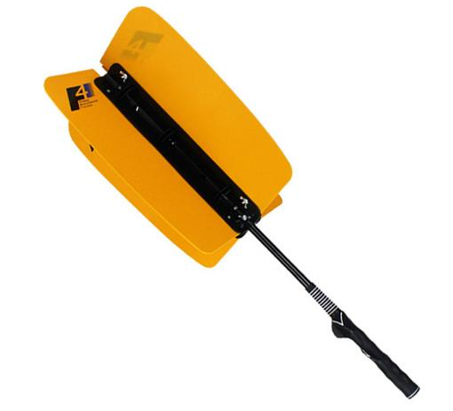 Practical Power Swing Fan Golf Club Swing Trainer Golf Practice Pinwheels Swing Aid Resistance Practice Training Aids Orange
